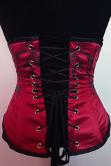Baroque Scrolls Under bust Corset, made to order