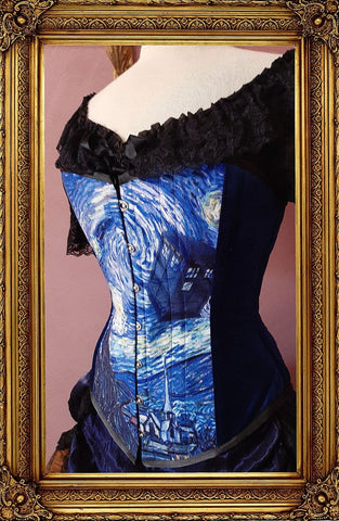 Starry Night Police Box Corset