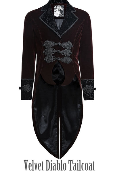 Velvet Diablo Tailcoat is a blood red vampire gothic tailcoat from PunkRave