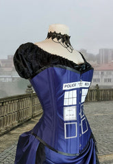 Police Box Blue Time Travel Corset
