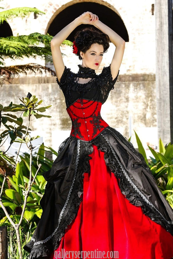 6a1e373a21 red rose gothic wedding gown is gothic victorian romance
