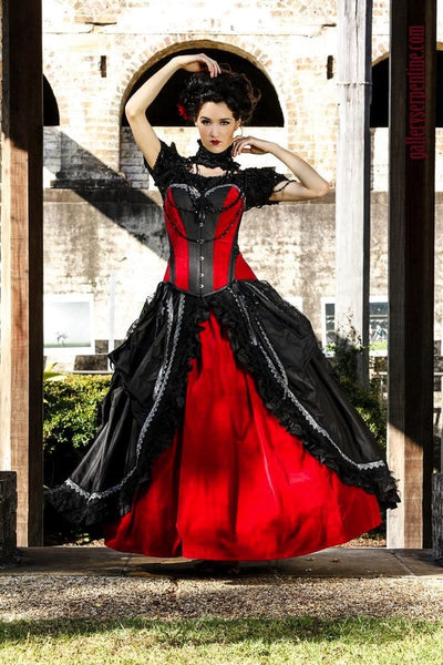 7d937e0e35b ... corset wedding dress  Cinch your waist   feel gothic romance on your gothic  wedding day in this custom made ...