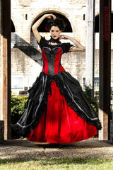 Cinch your waist & feel gothic romance on your gothic wedding day in this custom made quality gothic & amazing wedding dress