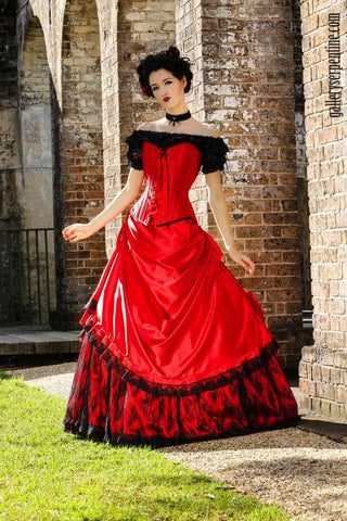 Lady In Red Gothic Wedding Dress