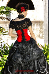 red rose gothic wedding gown made to measure in australia