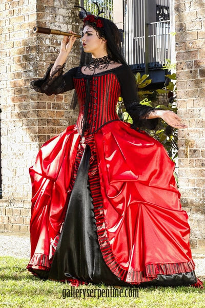 5fbf98187af ... gothic venice red and black bridal gown ...