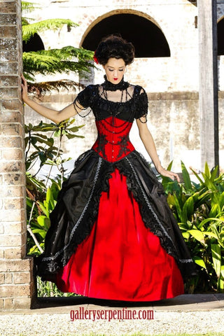Red Rose Gothic Wedding Gown