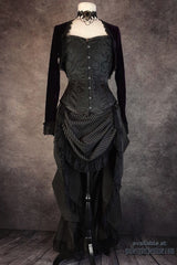 front view on a mannequin of a victorian style ensemble
