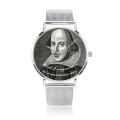 shakespeare printed digital watch high quality comes in 3 sizes and 3 colours, this one is in silver