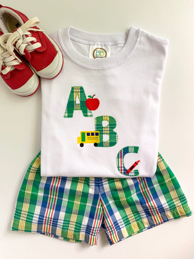 Back To School ABC Applique Shirt