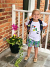 Back To School ABC Applique Shirt - Primary Plaid