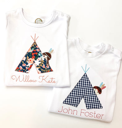 Applique Teepee Shirt