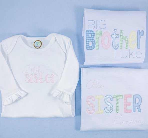Baby, Big Sister, Big Brother Applique