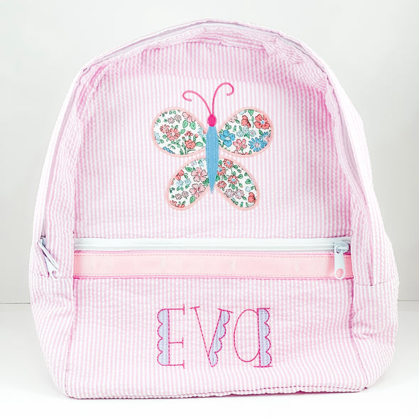 Backpack (Light Pink) Personalized with Liberty of London Fabric