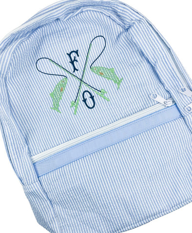Backpack with Fishing Design Personalized
