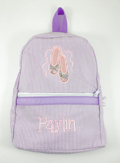 Backpack with Ballet Shoes Applique