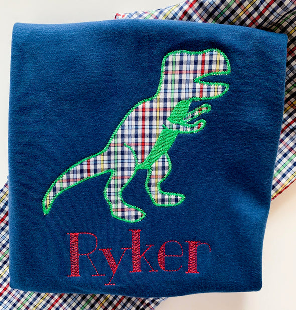 Dinosaur Fabric Applique Shirt