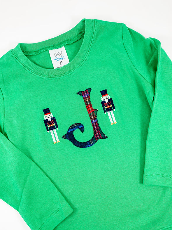 Christmas Toy Soldier Shirt with Initial