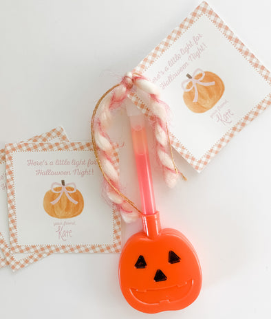 Halloween Watercolor Pumpkin Tags - Pink