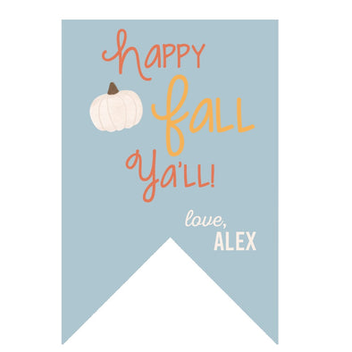 Happy Fall Ya'll - Personalized Gfit Tag