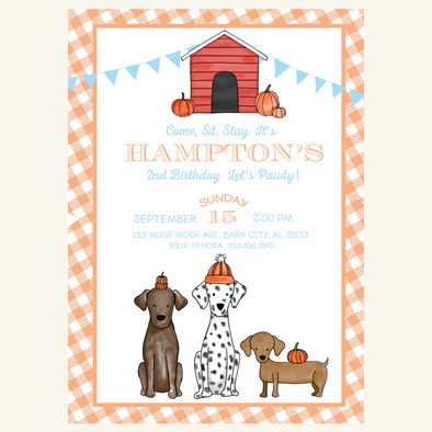 Fall Pumpkin Party Invitation