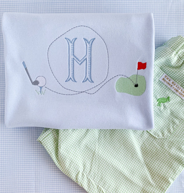 Golf Put Put Embroidery Tee with Beaufort Bonnet Shorts