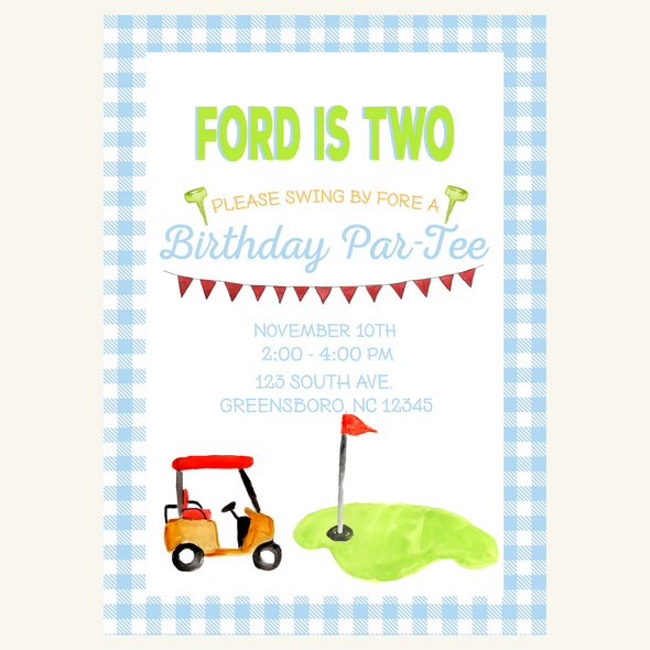 Birthday Golf Party Invitation