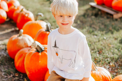 Trick or Treat Vintage Cow Tee