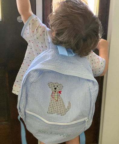 Backpack with Dog Applique