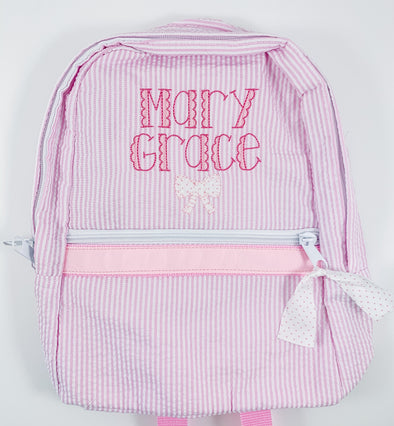 Backpack with Applique Bow and Name