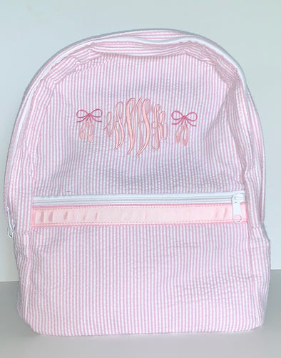 Monogrammed Backpack with Ballet Shoes