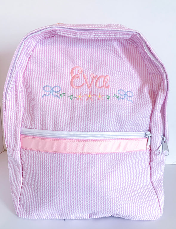 Backpack with Embroidery and Name