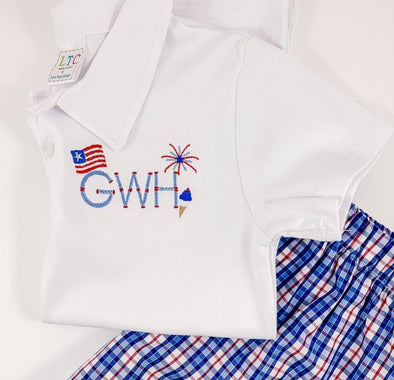 Fourth of July Polo Shirt with Monogram