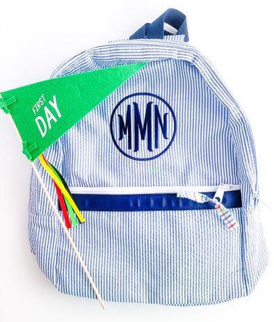 Backpack with Circle Monogram