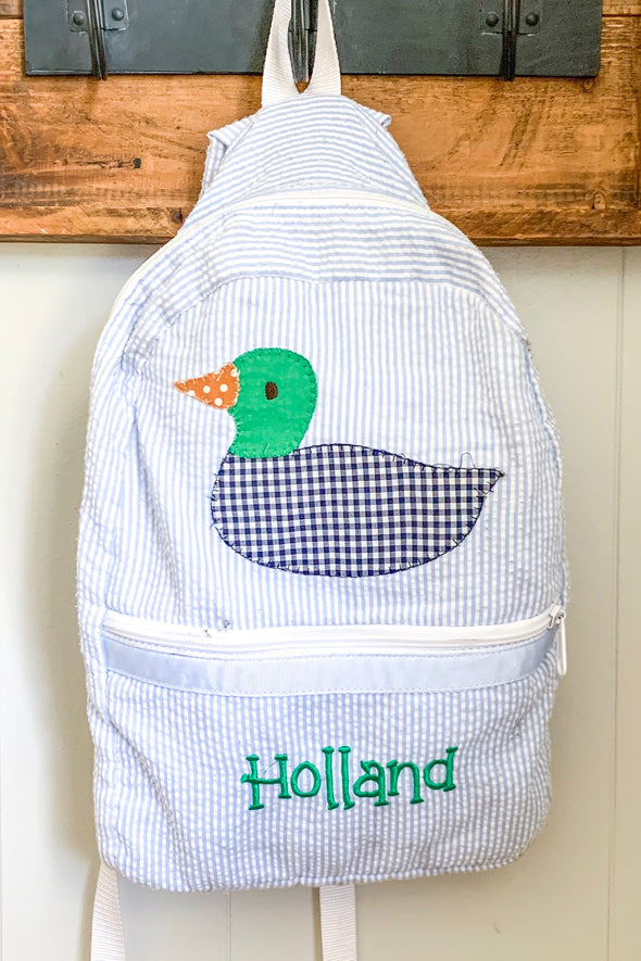 Backpack with Applique Duck