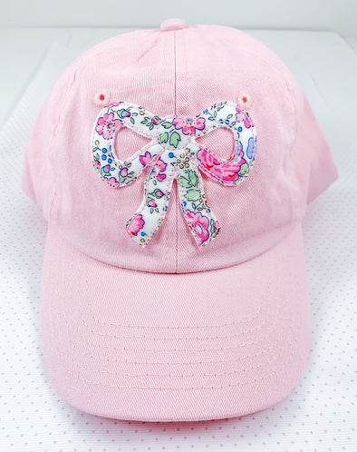 Pink Ball Hat with Liberty Fabric Bow