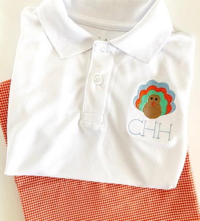 Fall Turkey Personalized Polo Shirt