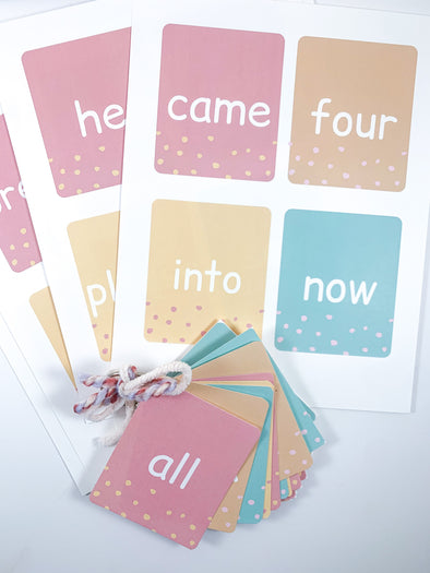 Sight Word Printable Cards - Level 2
