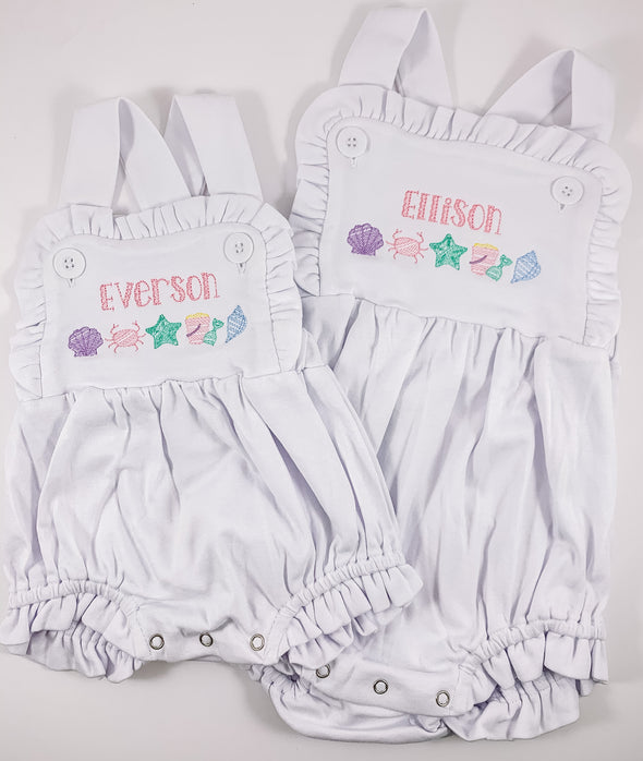 Summer Fun at the Beach Personalized Sunsuit
