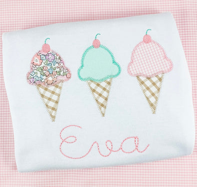 Summer Ice Cream Applique Shirt