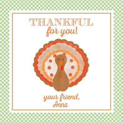Thanksgiving Turkey Watercolor Favor Tags