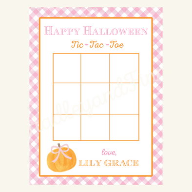 Halloween Tic Tac Toe Tag - Girl