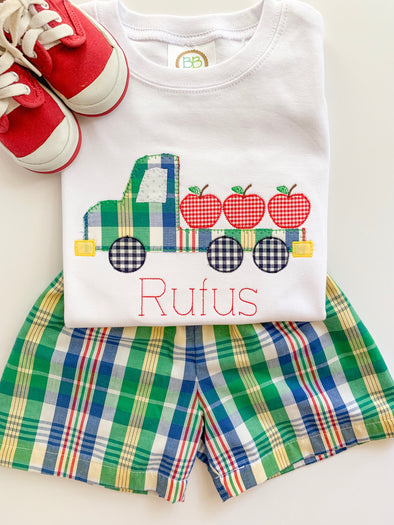 Primary Plaid Applique Shirt
