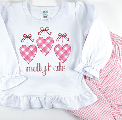 Valentine Hearts with Bows Shirt