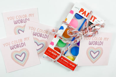 Valentine You Color My World Cards