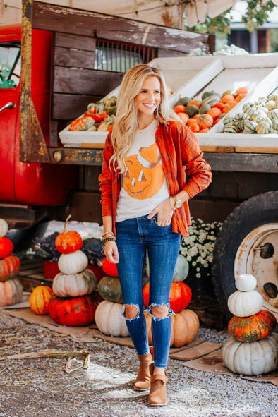 Vintage Pumpkin Adult Short Sleeve Tee