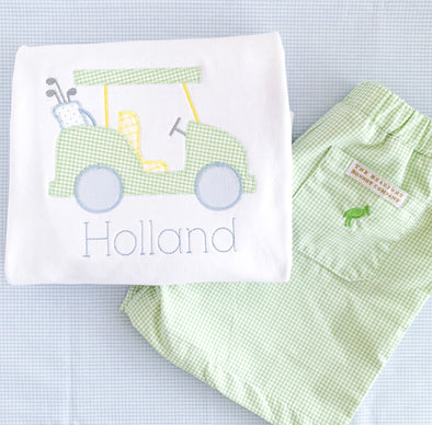 Golf Cart Applique Tee with Beaufort Bonnet Shorts