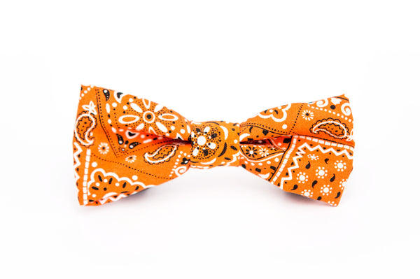 Orange Bandana Bow Tie