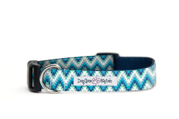 Blue Tribal Dog Collar