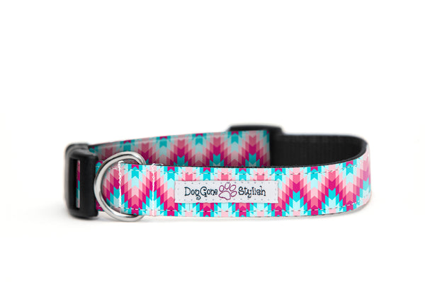 Pink Tribal Dog Collar